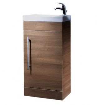 Esta Floor Mounted Unit & Basin (Walnut)